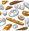 seamless pattern for bakery black hand vector image vector image
