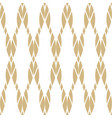 seamless pattern with golden ropes vector image vector image