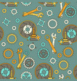 seamless pattern with mechanical components vector image