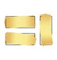 set of hand drawn luxury bright golden gradient vector image
