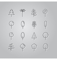 Set of line icons Trees vector image vector image