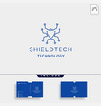 shield technology logo networking protect symbol vector image