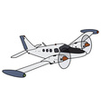 Small watch twin engine aircraft vector image vector image
