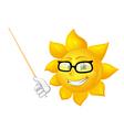 smart sun is teaching vector image vector image