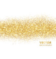 sparkling glitter border isolated on white vector image vector image