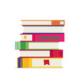 stack pile of books education school concept vector image vector image
