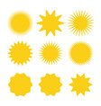 sun icons collection sun icons yellow sun icon vector image vector image