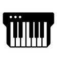 synthesizer icon simple black style vector image vector image