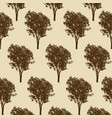 trees pattern texture design vector image