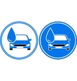 two washing cars with water drop vector image