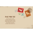 Vintage envelope with rubber stamps vector image vector image
