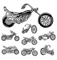 vintage motorcycle retro bicycle extreme biker vector image