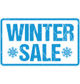 winter sale blue seal rough letters isolated vector image vector image