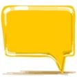 Yellow speech bubble cartoon vector image vector image
