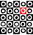 Black white and color mosaic background vector image