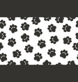 paw prints pattern vector image