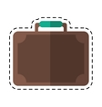 travel suitcase modern style equipment cutting vector image
