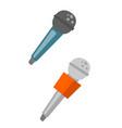wireless microphones cartoon vector image