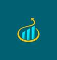 arrow up curve business logo vector image