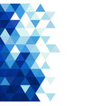 abstract blue triangle modern template for vector image vector image