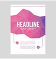Abstract brochure or flyer design template vector image vector image