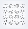 abstract isolated funny flat style emoticon vector image
