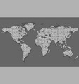 abstract world map dots with shadow vector image