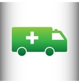 Ambulance sign Green gradient icon vector image vector image