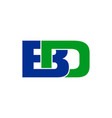 bd initials lettermark symbol logo design vector image