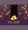 beautiful golden sparkles with christmas bells vector image vector image