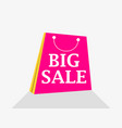 big sale shopping packet flat style with shadow vector image vector image