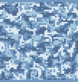 blue digital camouflage seamless pattern vector image vector image