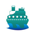 boat surfing isolated icon vector image