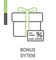 bonus system icon with editable stroke in flat vector image vector image