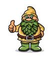 cartoon dwarf mascot logo vector image vector image