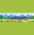 city park people cycling clean energy wind vector image vector image