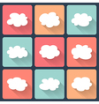 Cloud flat icon set vector image vector image