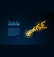 comet neowise lettering emblem on stars background vector image
