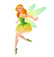 cute flying fairy with dragonfly wings in vector image vector image