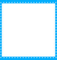 cyan blue and white square frame made of animal vector image vector image