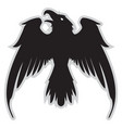 dark evil heraldic raven with spread wings vector image vector image