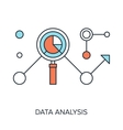 Data Analysis vector image vector image