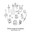 divine magic and occultism isolated hand drawn vector image