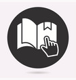 e-learning education icon learn academic study vector image