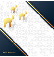 eid al adha mubarak celebration muslim vector image vector image