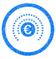euro financial sphere shield rounded icon rubber vector image vector image