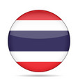 flag of thailand shiny round button vector image