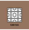 Flat black and white floor tiles icon isolated on vector image vector image