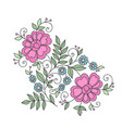 flower design element stylized floral ornament vector image