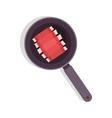 food frying pan with rib vector image